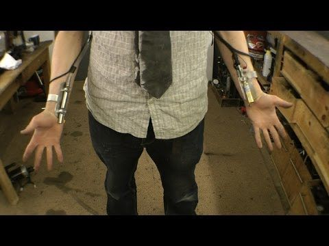 Ballistic Knife/Taser Weaponised arm Gauntlet Deus Ex: Mankind Divided Style Making of Part 2 - YouTube