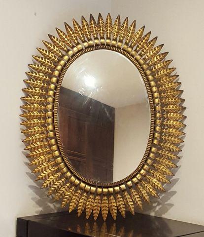 Espejo sol de forja ovalado | La tienda de Etxekodeco http://etxekodecoshop.es/catalogo/espejo-sol-de-forja-ovalado/