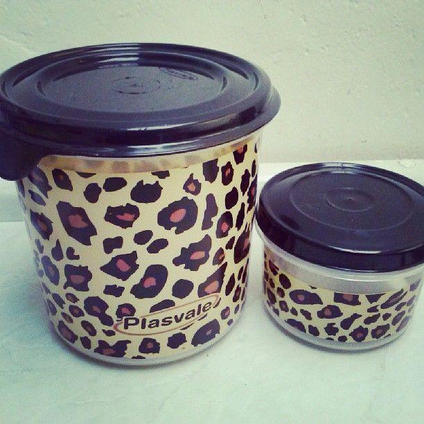 Leopard print tupperware