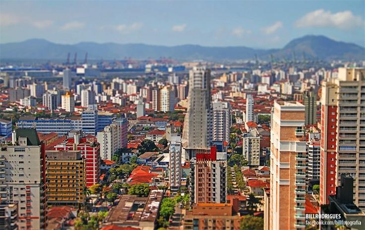 Santos - vista do 34º andar  Foto: Bill Rodrigues
