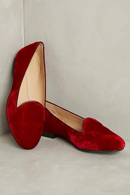 Chatelles Valentine Velvet Loafers - anthropologie.com