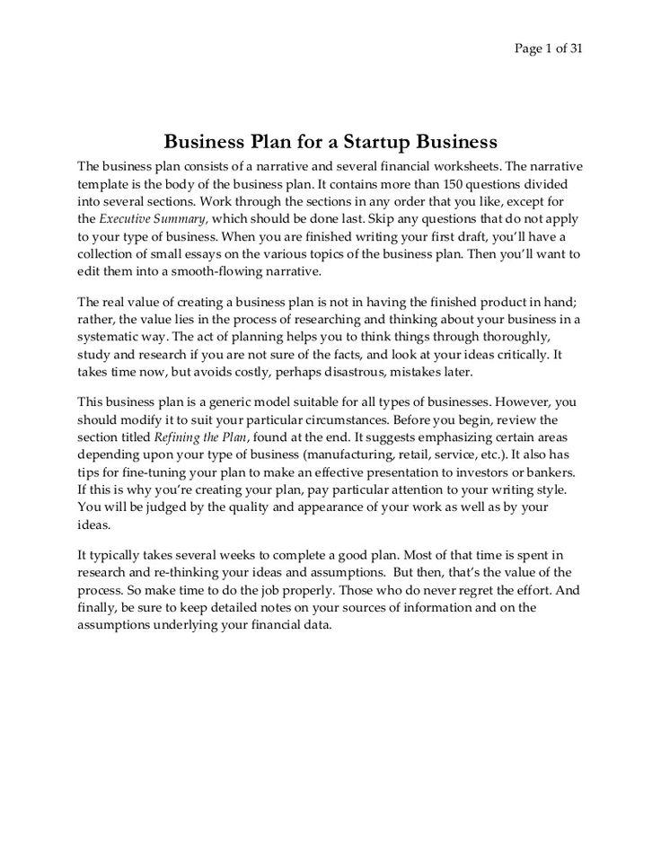 Best 25+ Basic business plan ideas on Pinterest Financial - simple business plan template