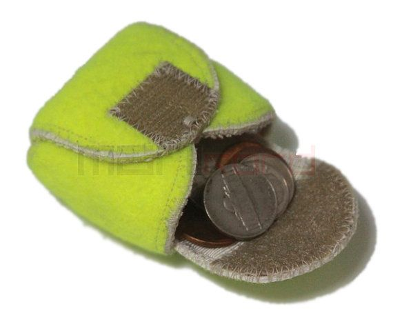 Recycled Tennis Ball Mini Bag/ Change Holder