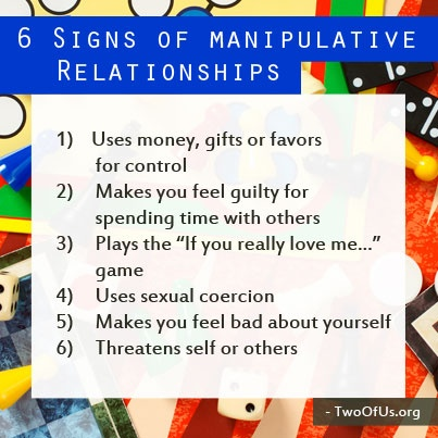 signs of being manipulated in a relationship