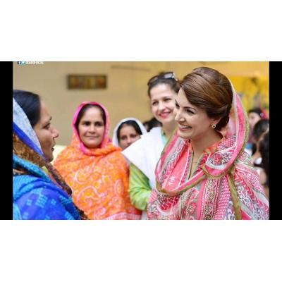 Reham khan meet with PTI worker