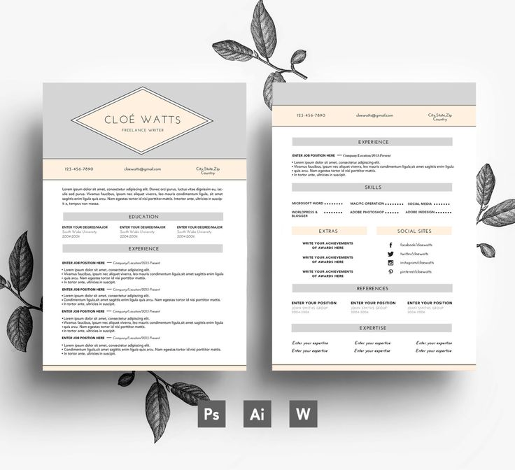 33 best Stylish Resumes images on Pinterest Resume templates - editable resume templates