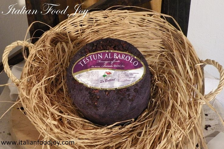 #Barolo #Cheese TESTUN refined in BAROLO DOCG wine (Controlled and guaranteed origin denomination) A sharp cheese aged for 140 days on wooden shelves in a tuff cellar. Once it reaches its optimal age, this cheese is placed in Nebbiolo and Barolo grapes for about one month until the #Testun has taken on the color, scent and #flavor of these #wine. www.italianfoodjoy.com for UK and other countries www.italianfoodjoy.de for DE and AT only