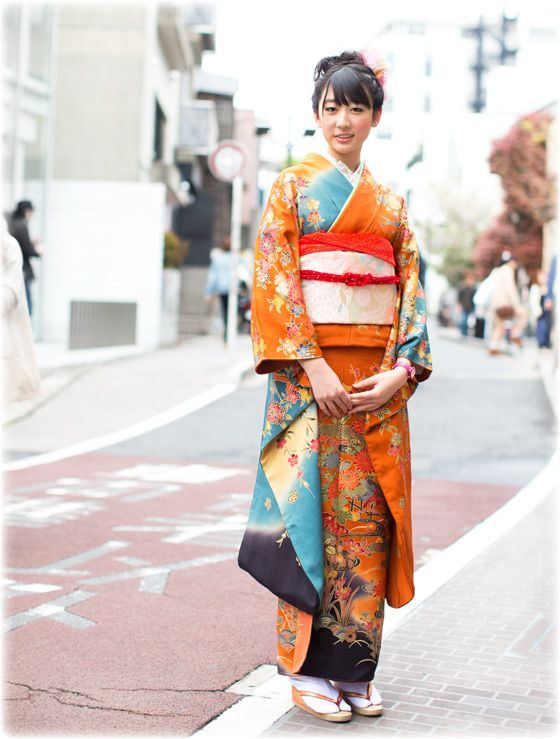 "Just stunning. A perfect ""modern geisha"", and that orange & blue palette is perfect. {via garance dore}"