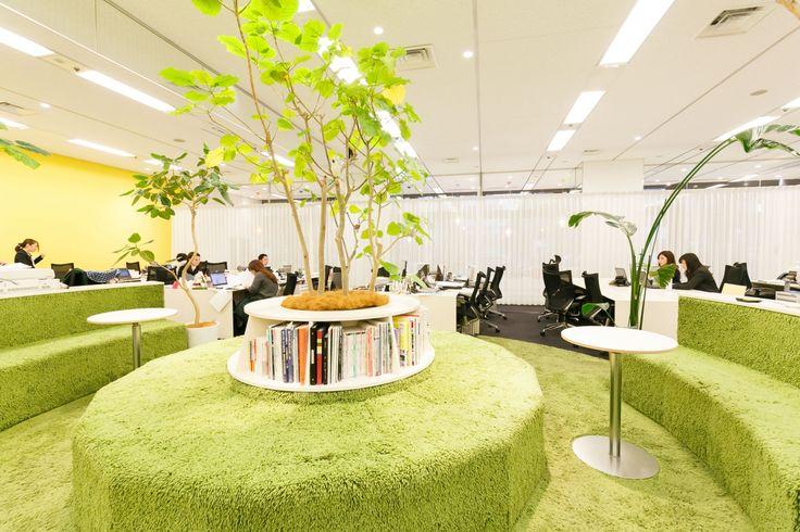パークをマグネットエリアとした一体感|オフィスデザイン事例|デザイナーズオフィスのヴィス