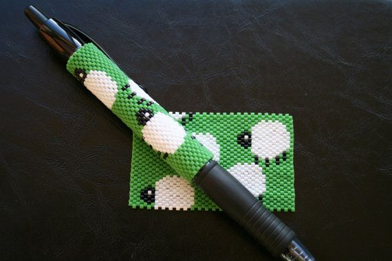 Hey, I found this really awesome Etsy listing at https://www.etsy.com/uk/listing/262893702/sheep-even-count-peyote-pen-cover