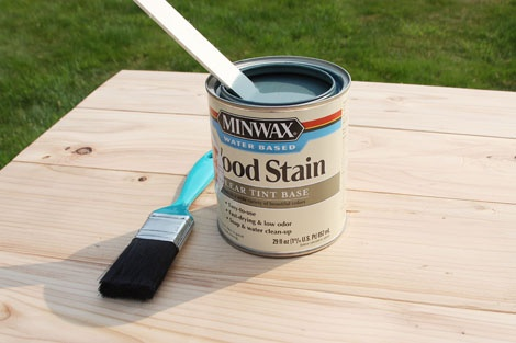 How To Paint Furniture | Minwax Water Based Stain - Gray | Ana White - Homemaker
