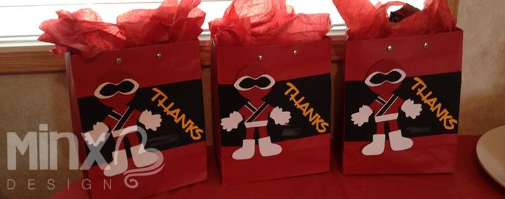 power rangers gift bags
