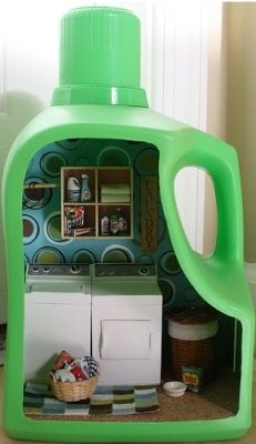 Laundry room in a plastic bottle