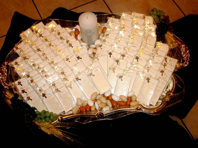 First Communion Favor Tray