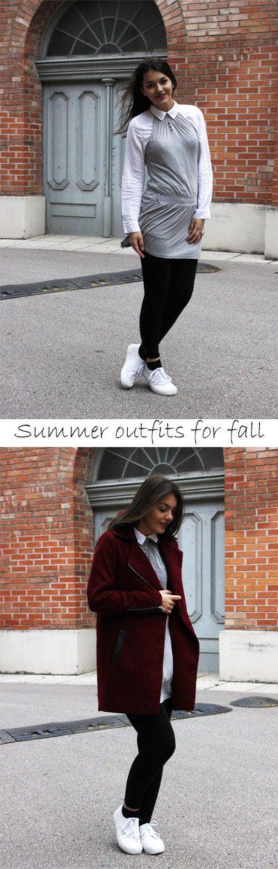 3 Tipps, um das Sommeroutfit herbstfest zu machen: Layering, fany tights und die richtige Jacke.