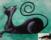 Benutzerdefinierte Cat Portrait Gemälde, Fantasy-Cat-Porträt