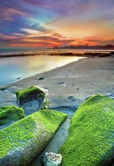 By I Md Tangkas, Hock: view of Senggigi Beach, Nusa Tenggara Barat - Indonesia via Ayofoto!