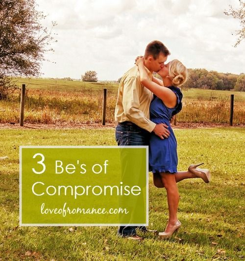 marriage and compromise Marriage is all about the art of compromise that may sound trite, but it's really true and the compromising begins long before the actual marriage be.