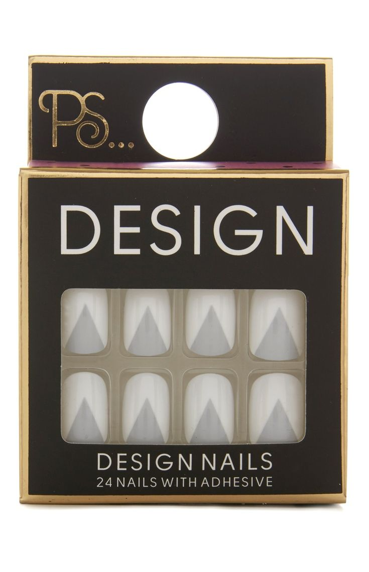 Primark - White Triangle False Nails