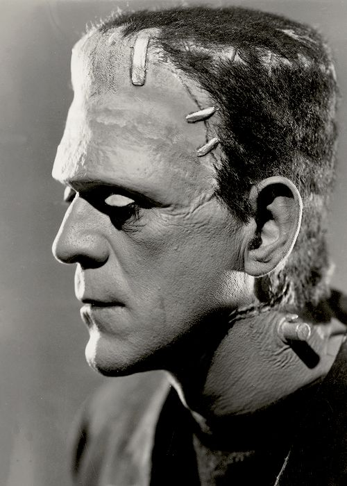 Boris Karloff in a promotional photo for The Bride of Frankenstein (1935)
