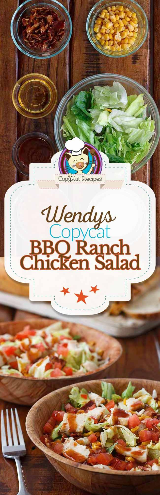 Make a meal out of a salad with this copycat recipe for Wendy''s BBQ Ranch Chicken Salad.