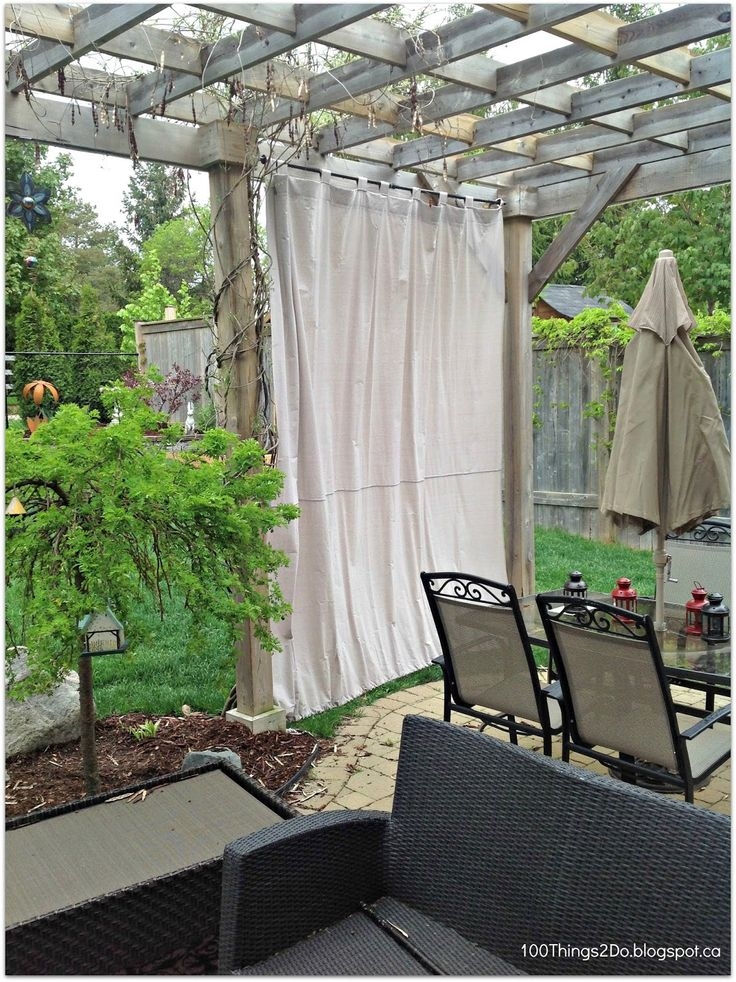 31 best curtains images on pinterest - Inexpensive Patio Curtain Ideas