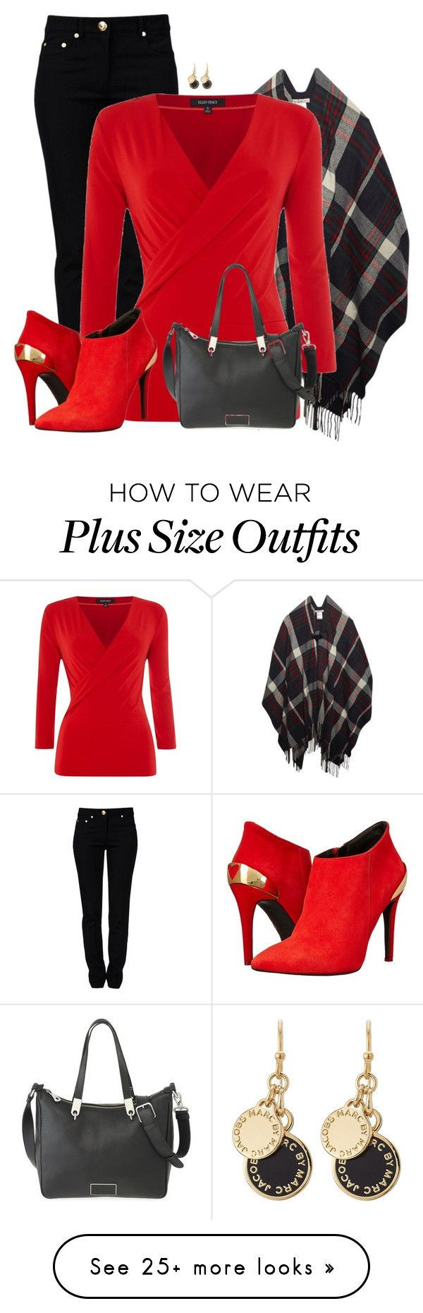 """Red Boots"" by cnh92 on Polyvore featuring Moschino, Wet Seal, Ellen Tracy, Love Moschino and Marc by Marc Jacobs"