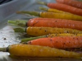 Roasted Carrots with Harissa Yogurt from Haylie Duff and her Real Girls Kitchen