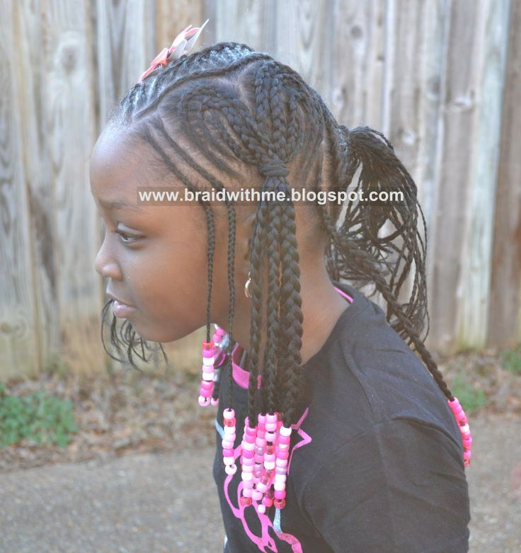 Little Girl Braids With Beads Cute Cornrow Hairstyles