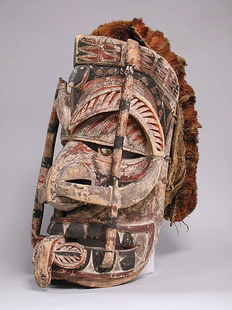 Mask (Tatanua), late 19th–early 20th century, Papua New Guinea, New Ireland, New Ireland, Medium:Wood, fiber, barkcloth, paint, shell