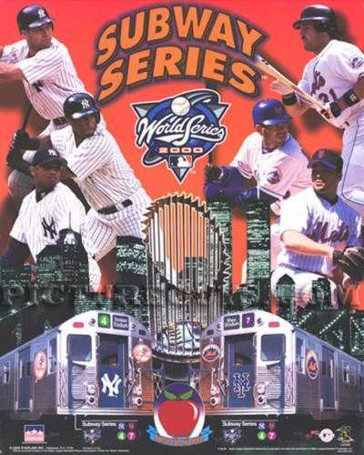 Yankees - Mets 2000 World Series - Subway Series Picture Plaque #NewYorkYankeesNewYorkMets