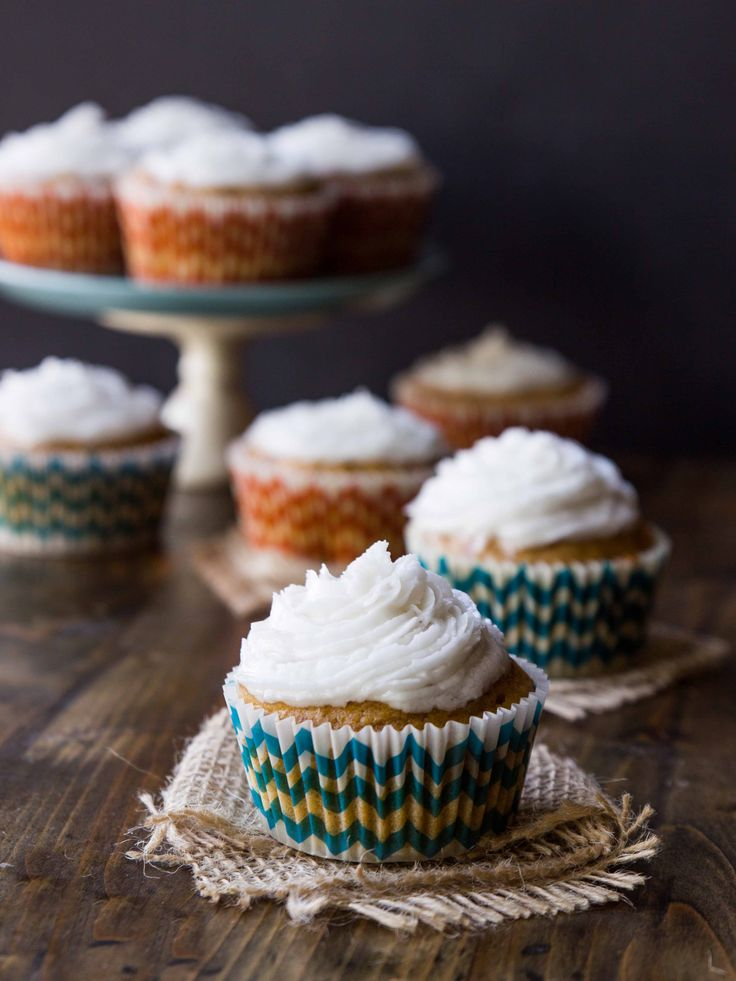 Fluffy, perfectly-spiced sweet potato cupcakes topped with a simple salted coconut oil frosting.