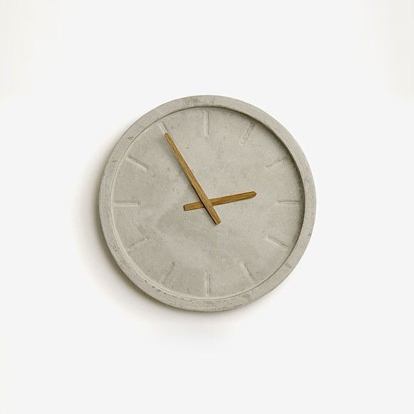 17 best concrete clock images on pinterest concrete - Wanduhr modern weiay ...
