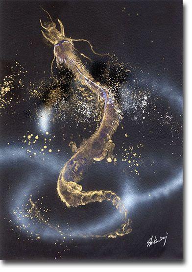 新月紫紺大作の龍の絵 タイトル「はじめ龍」