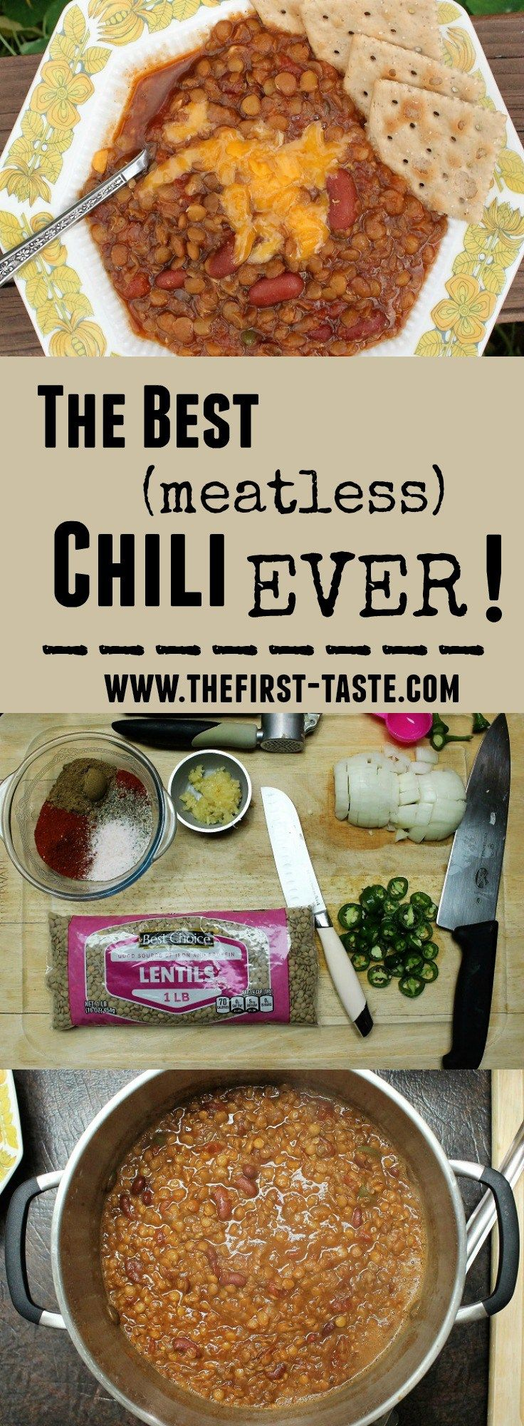 The Best (meatless) Chili EVER