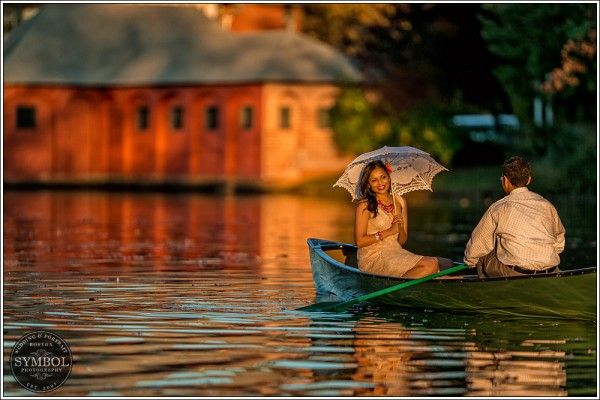 engagement session in new england, fall engagement shoot,  canoe ride,  #shaadibazaar