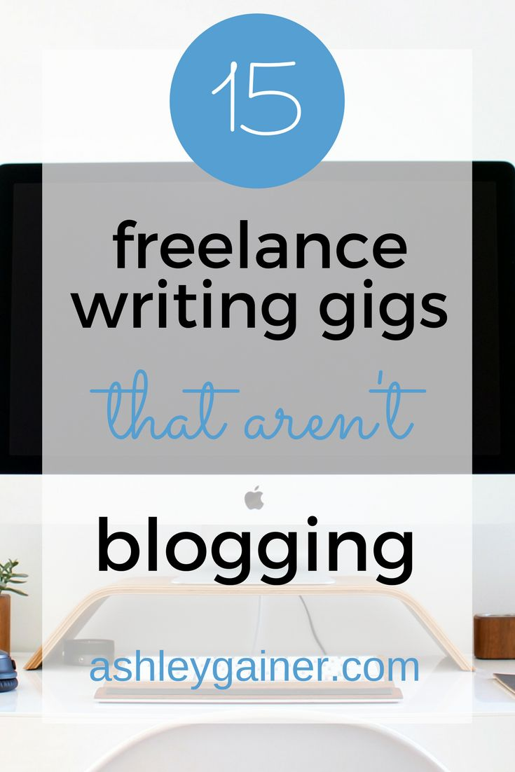 Want to be a freelance writer without being chained to blogs? Here are 15 things you can do besides blogging.