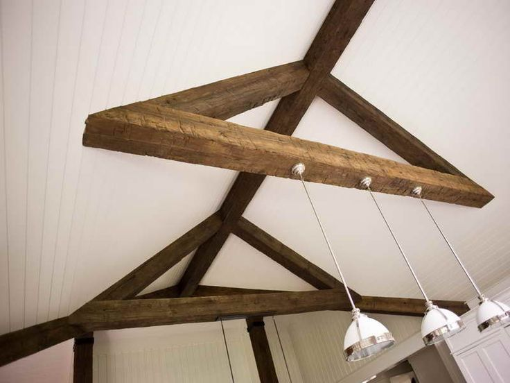 Roofing Faux Ceiling Beams With Lamp How To Install Faux