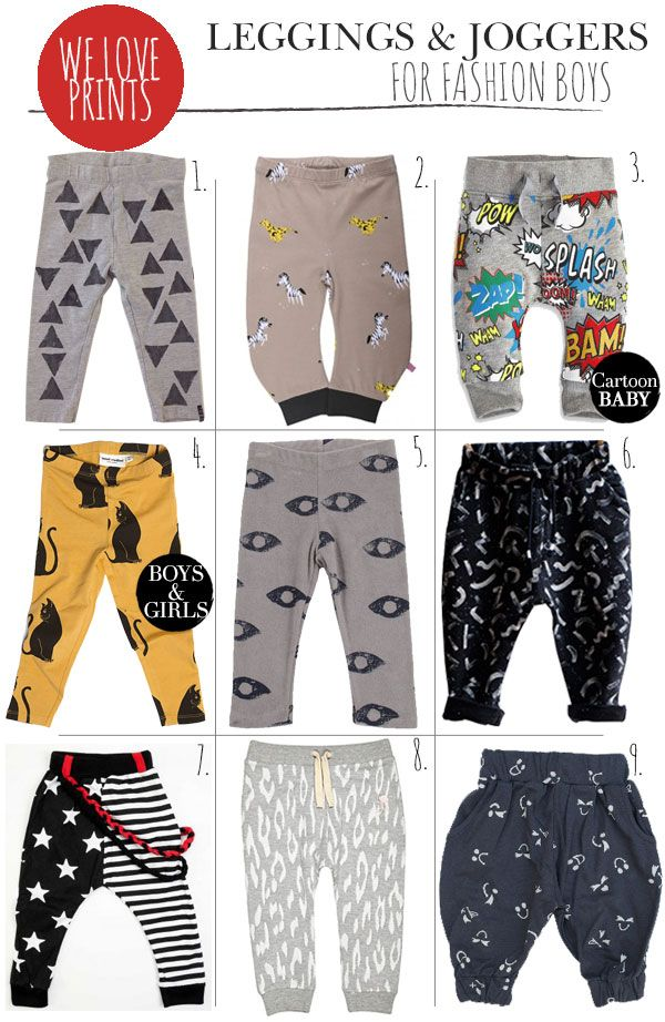Fashion for baby boys: Joggers & Leggings - Prêt à Pregnant