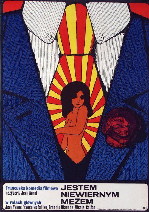 Jestem Niewiernym Mezem  Polish film poster  1971