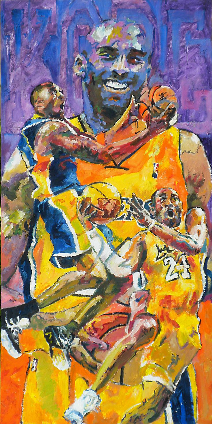 """Original Artist Remarque and Enhanced Giclée. (1 of 1) 18""""x36"""" gallery-wrapped. Commemorating Kobe Bryant's last All-Star Game and twenty years as a Los Angeles Laker. Bravo Kobe."""