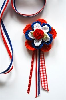 Free pattern/ gratis patroon Haakpatroon Holland broche | Echtstudio
