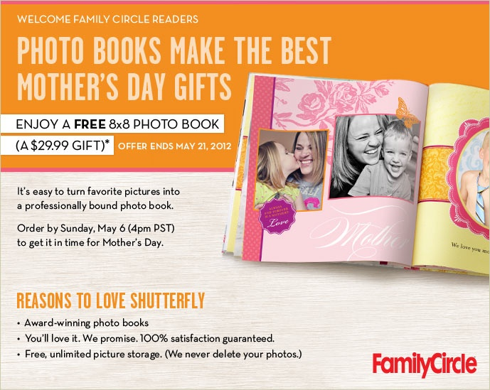 Free Shutterfly 8x8 Photobook!!