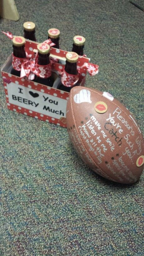 football valentines day box