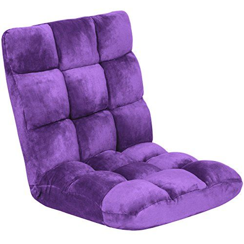 Best Choice Products Cushioned Floor Gaming Sofa Chair Fo...