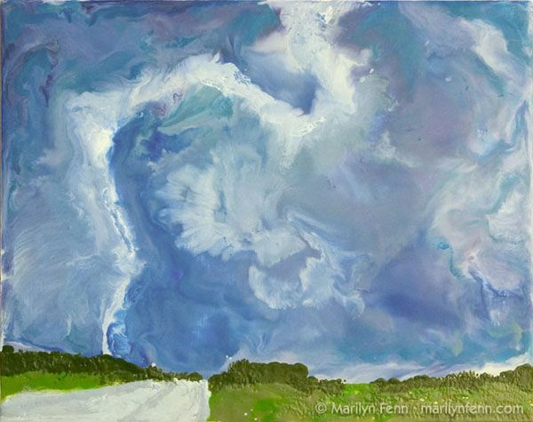 Tornado - Dallas, TX Encaustic on Masonite 8 in. x 10 in. © 2006 Marilyn Fenn