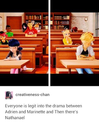 This could also mean that they ship Adrien and marionette (probably spelled that wrong) and the ones against it are in adrien's side (not saying he is against it) and in the end they end up in the same side. So they must like each other<< actually you make a good point.