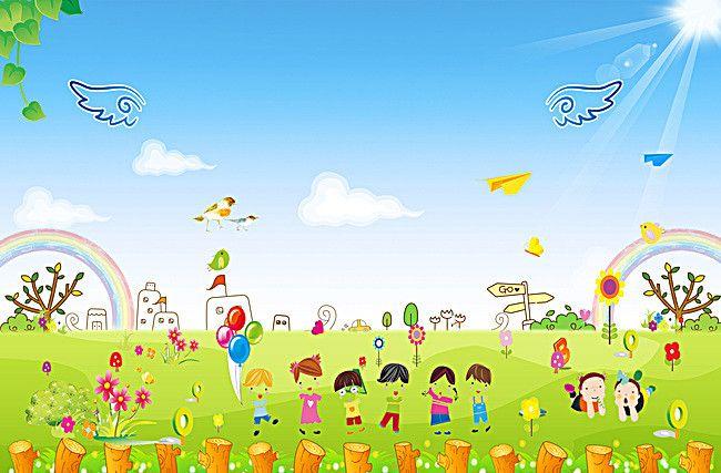 روضة أطفال الكرتون ملصق العذب الصغيرة الخلفية Certificate Design Flower Backgrounds Kindergarten