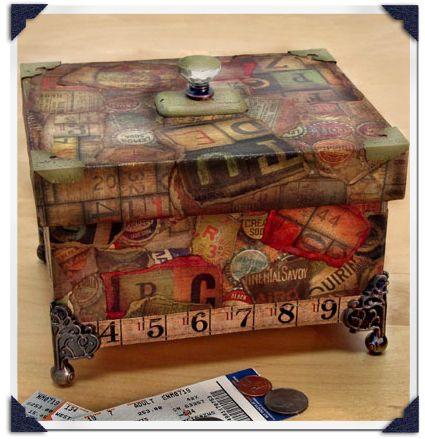 Collage Keepsake Box