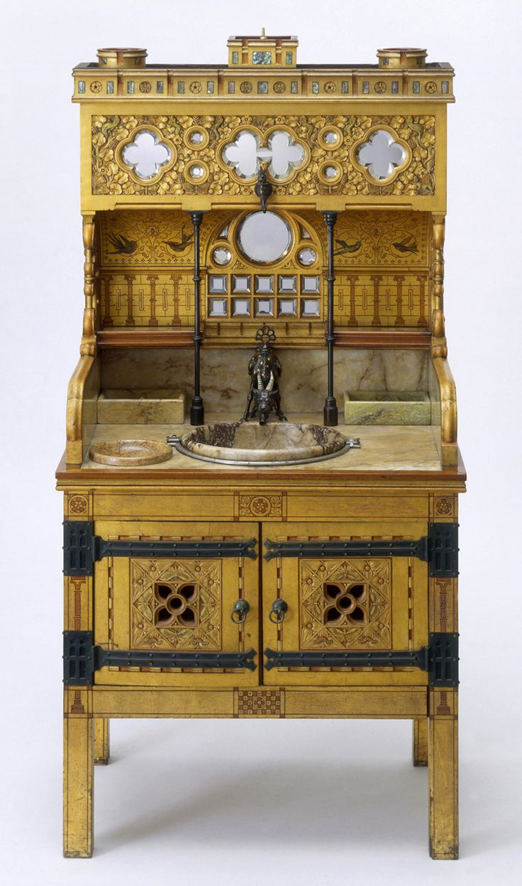 Gothic home furniture together with four hands furniture sale besides - William Burges 1827 1881 One Of The Most Original And Exuberant Designers Of Gothic Furnitureantique
